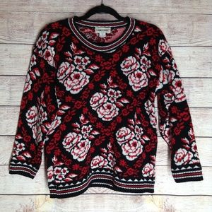Vintage Cabin Creek rose sweater size S